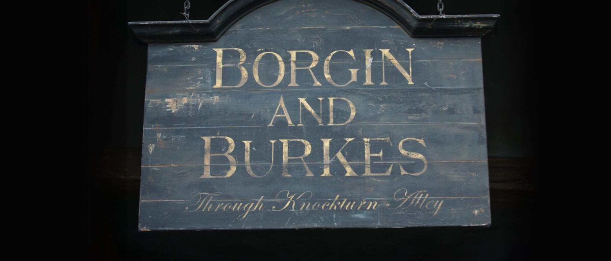 Borgin and Burkes Signage