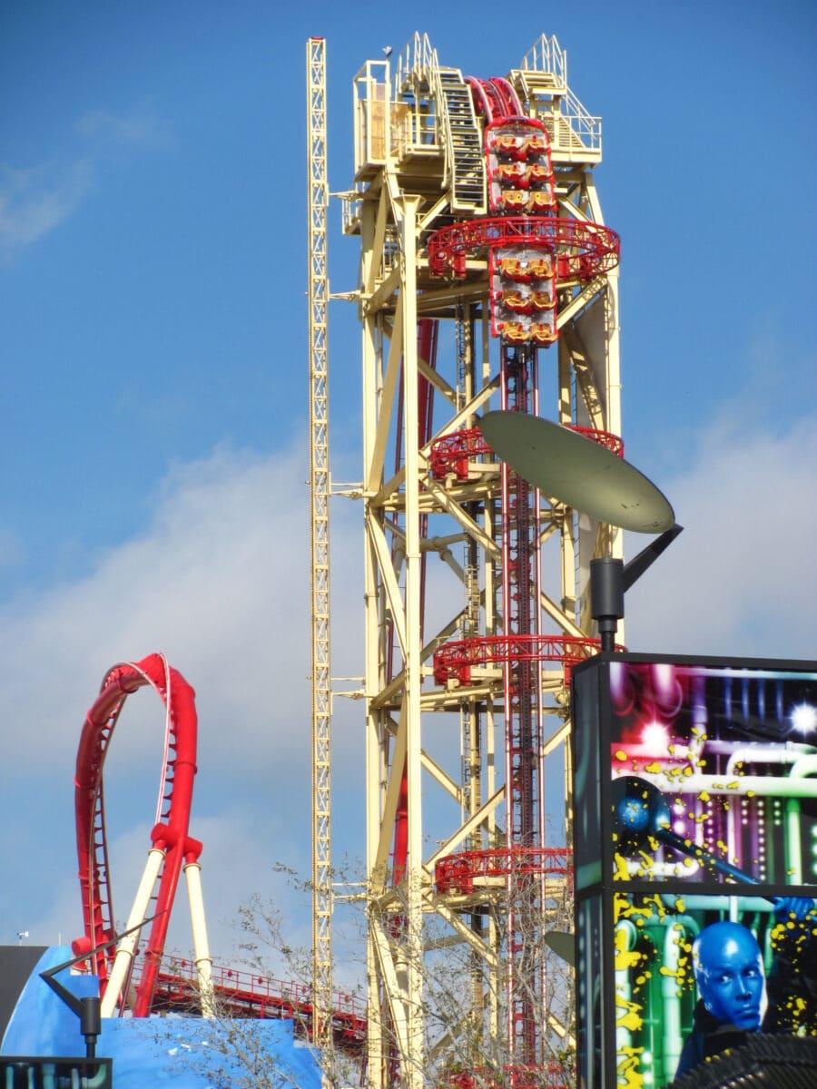 Roller coaster with major drop