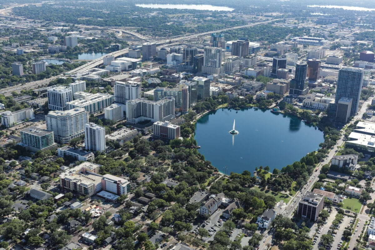 Aerial view of Orlando City