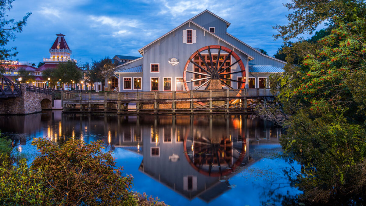 Hotel with watermill and river