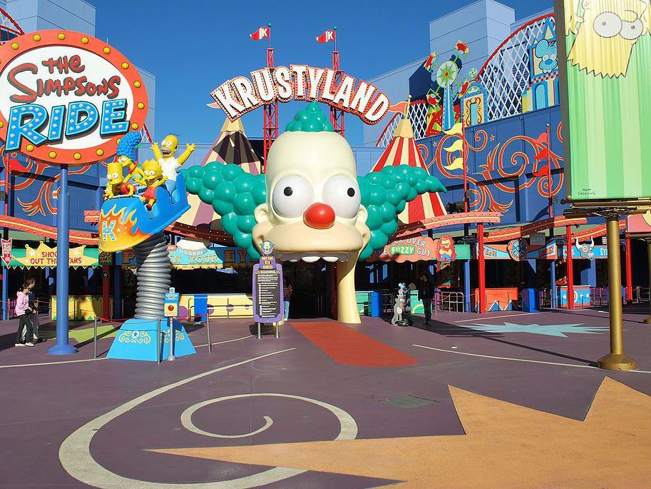 Krusty the Clown attraction entrance