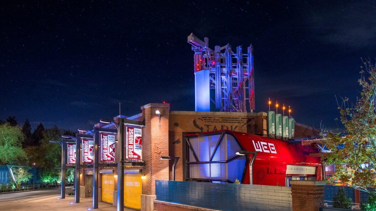 Night shot of WEB Slingers Building