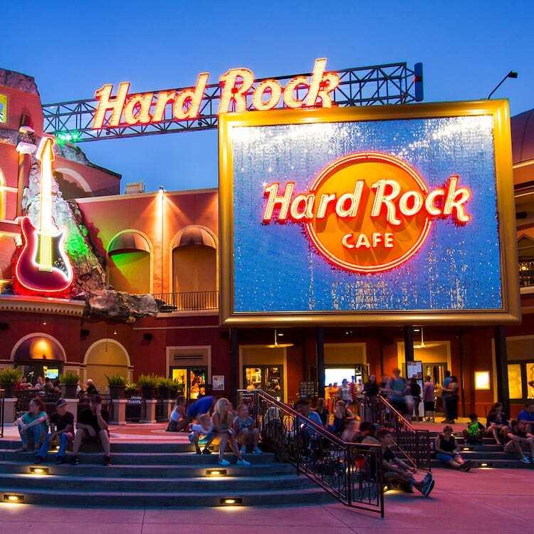 Exterior of Hard Rock Cafe