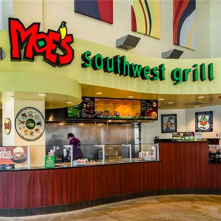 Interior of Moe's Southwest Grill