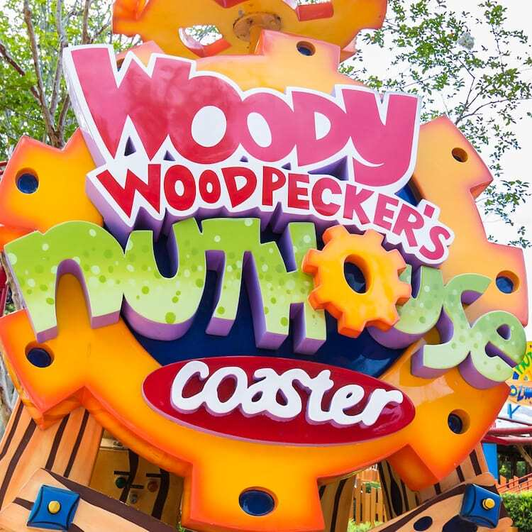 Woody Woodpecker's Nuthouse Coaster Sign