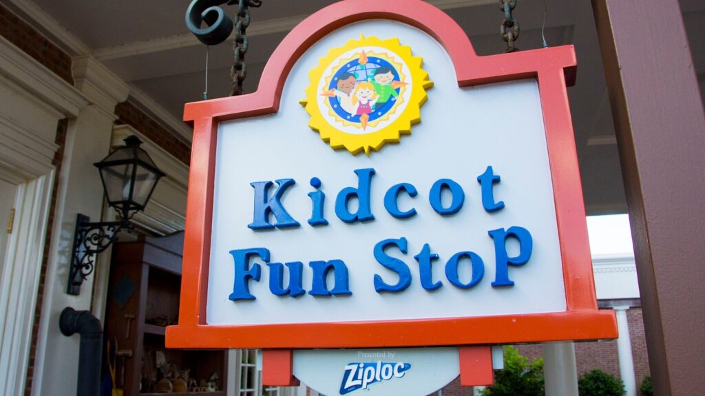 Signage for Kidcot Fun stop