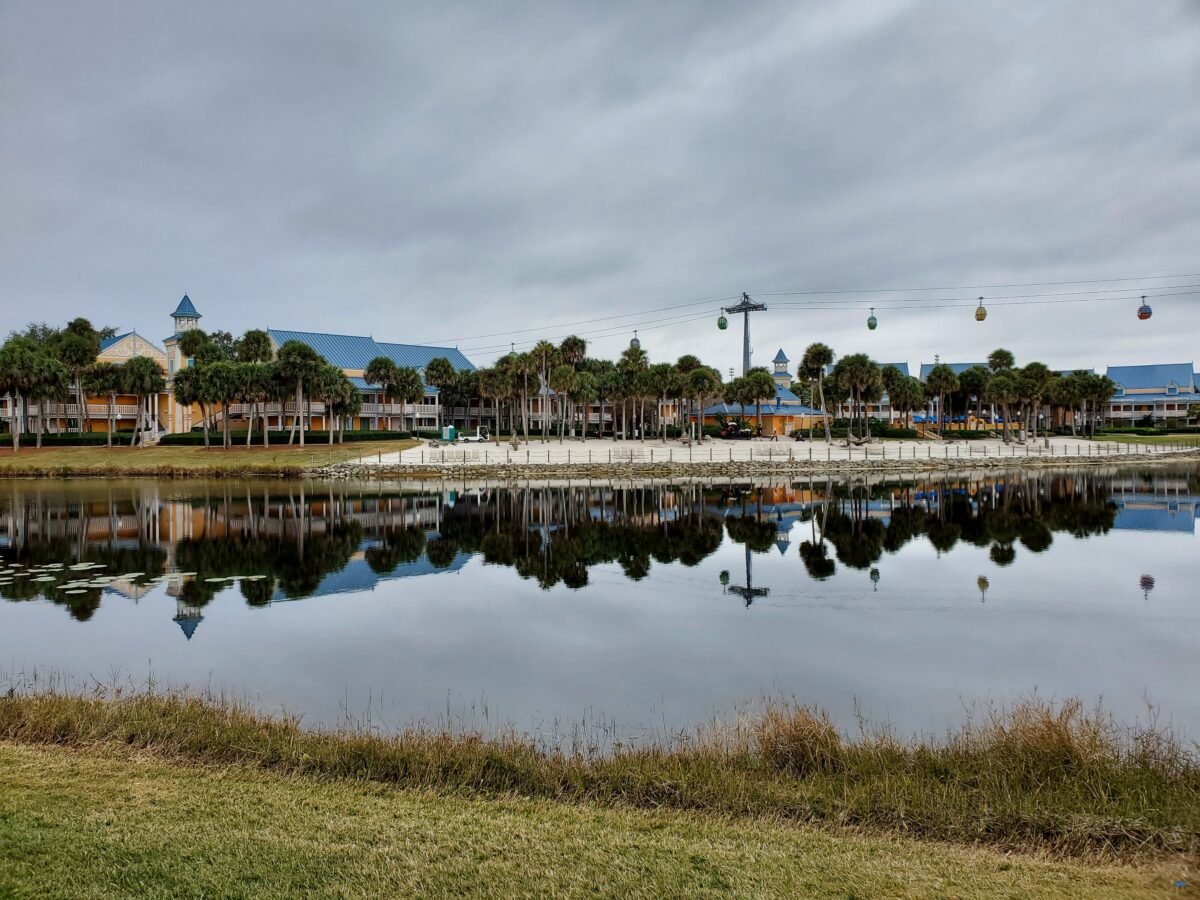 Caribbean Beach Resort across lake