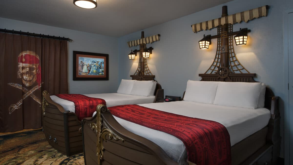 Two queen pirate ship beds
