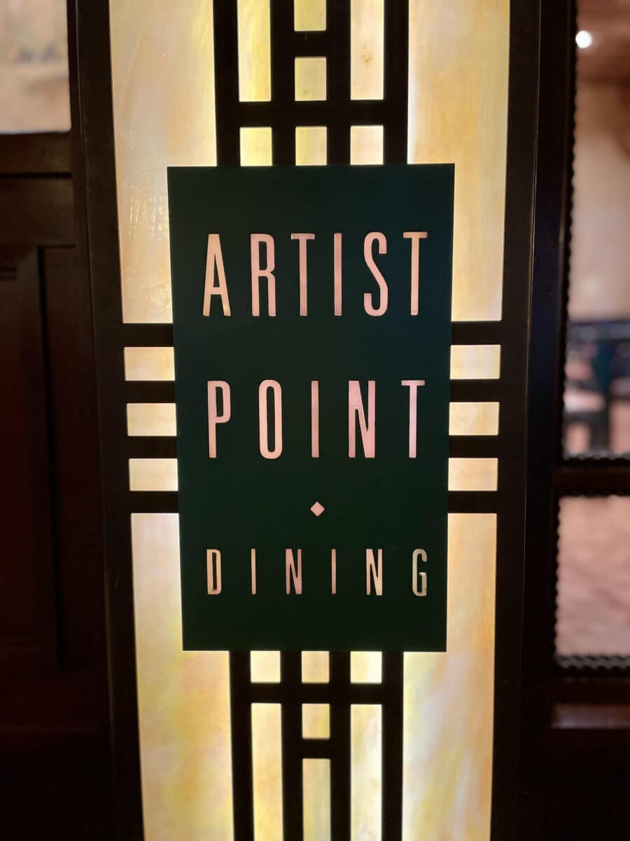 Artist Point Dining Sign