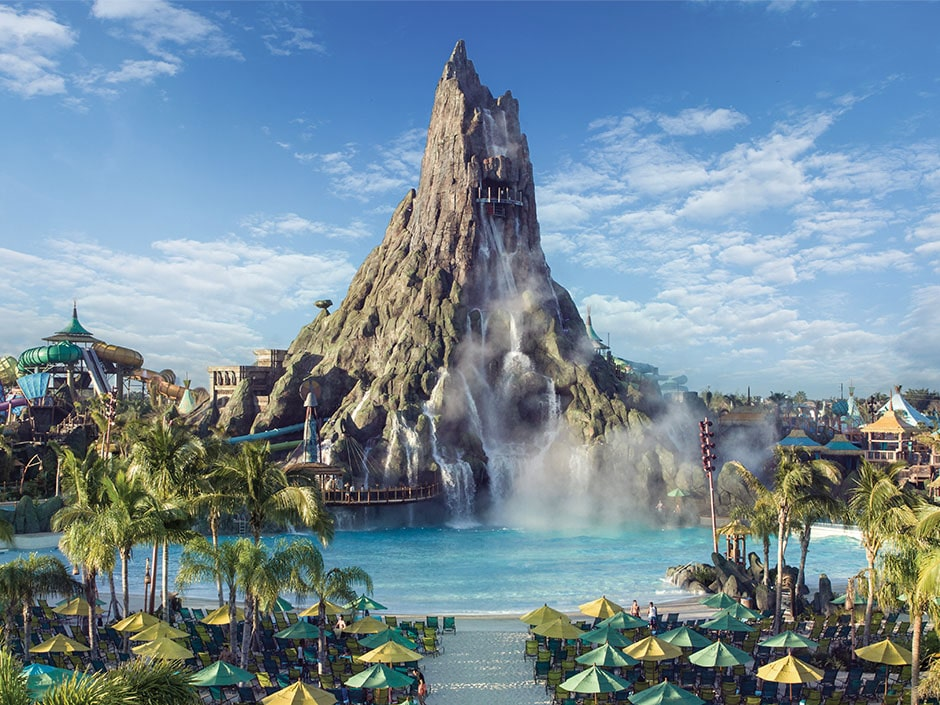Volcano Bay with pool