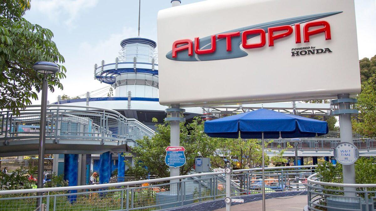 Autopia Attraction signage