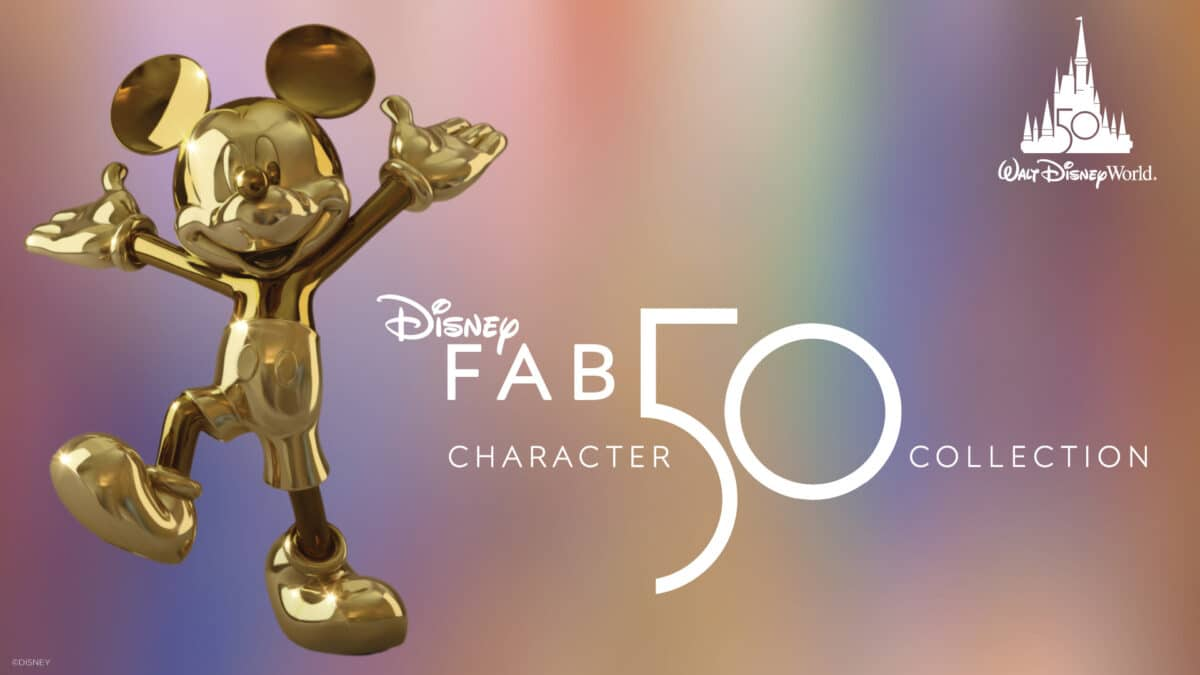 'Disney Fab 50' Sculpture Revealed for 50th Anniversary