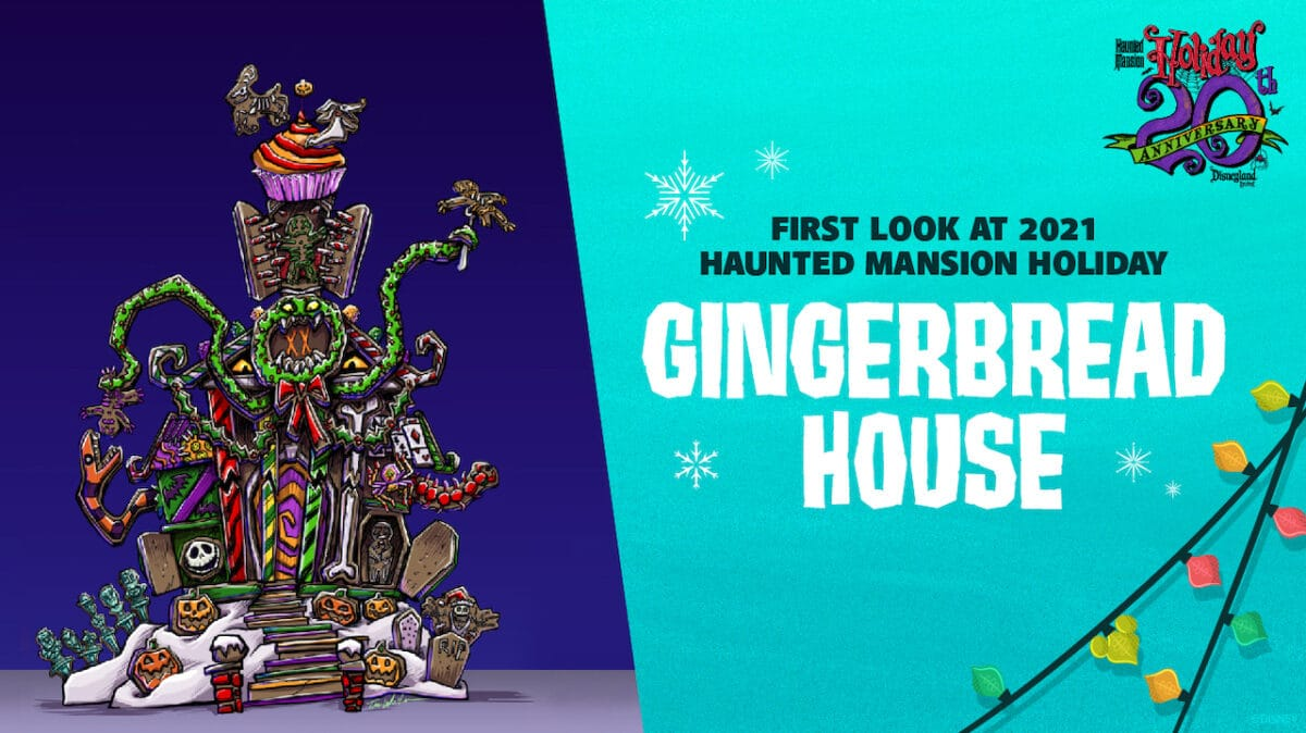 2021 Haunted Mansion Holiday Gingerbread House at Disneyland Park