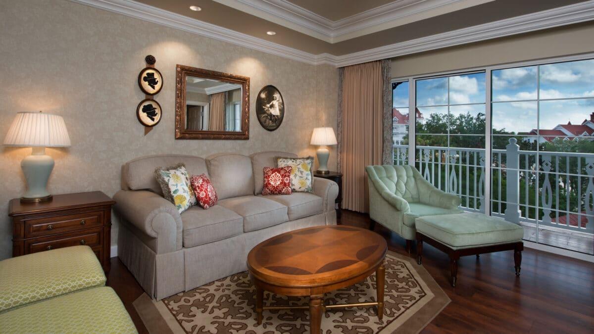 Hotel villa living room