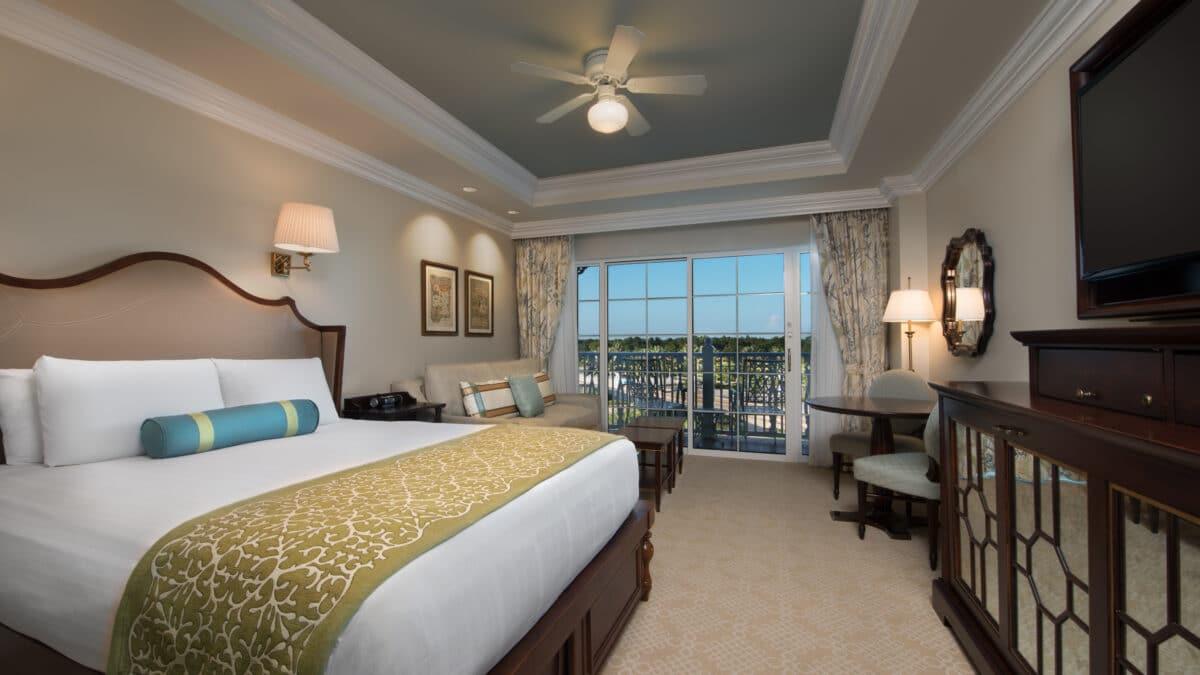 Villa bedroom with bed